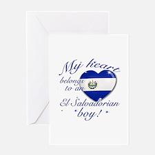 My heart belongs to an El Salvadorian boy Greeting