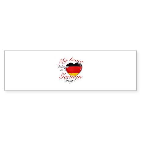 My heart belongs to a German boy Sticker (Bumper 1