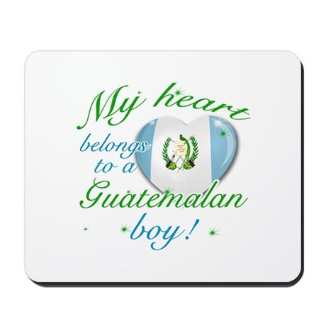 My heart belongs to a Guatemalan boy Mousepad