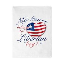 My heart belongs to a Liberian boy Twin Duvet