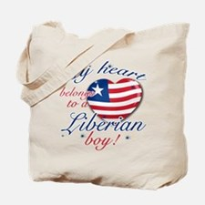 My heart belongs to a Liberian boy Tote Bag