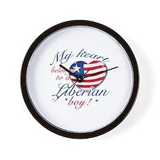 My heart belongs to a Liberian boy Wall Clock