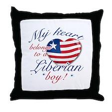 My heart belongs to a Liberian boy Throw Pillow