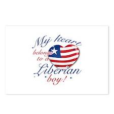 My heart belongs to a Liberian boy Postcards (Pack