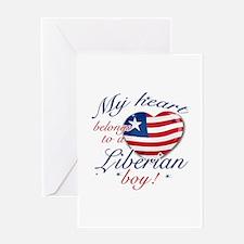 My heart belongs to a Liberian boy Greeting Card