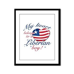 My heart belongs to a Liberian boy Framed Panel Pr