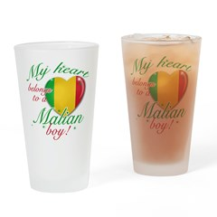 My heart belongs to a Malian boy Drinking Glass