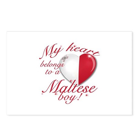 My heart belongs to a Maltese boy Postcards (Packa