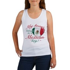 My heart belongs to a Mexican boy Women's Tank Top