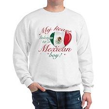 My heart belongs to a Mexican boy Sweatshirt