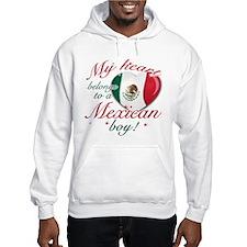My heart belongs to a Mexican boy Hooded Sweatshir