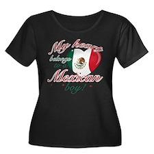 My heart belongs to a Mexican boy Women's Plus Siz