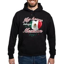 My heart belongs to a Mexican boy Hoodie (dark)