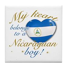 My heart belongs to a Nicaraguan boy Tile Coaster