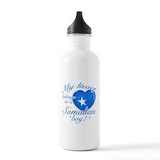 My heart belongs to a Somalian boy Water Bottle