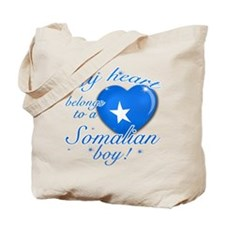 My heart belongs to a Somalian boy Tote Bag