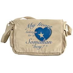 My heart belongs to a Somalian boy Messenger Bag