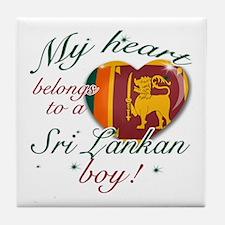 My heart belongs to a Sri Lankan boy Tile Coaster