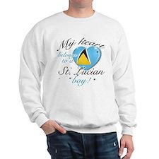 My heart belongs to a St. Lucian boy Sweatshirt