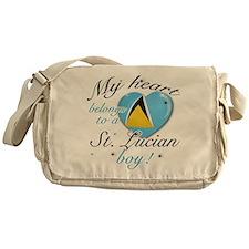 My heart belongs to a St. Lucian boy Messenger Bag