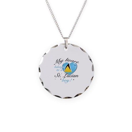 My heart belongs to a St. Lucian boy Necklace Circ