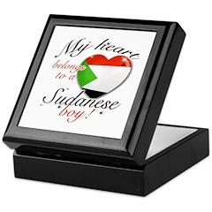 My heart belongs to a Sudanese boy Keepsake Box