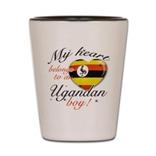 My heart belongs to an Ugandan boy Shot Glass