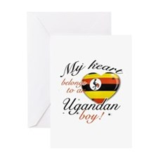 My heart belongs to an Ugandan boy Greeting Card