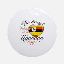 My heart belongs to an Ugandan boy Ornament (Round