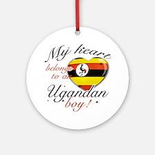 My heart belongs to an Ugandan boy Ornament (Round