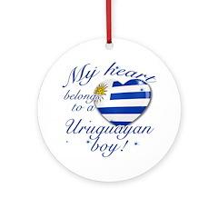 My heart belongs to an Uruguayan boy Ornament (Rou