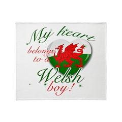 My heart belongs to a Welsh boy Throw Blanket