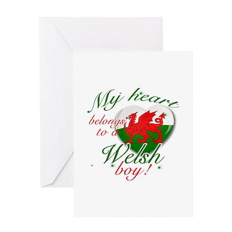 My heart belongs to a Welsh boy Greeting Card