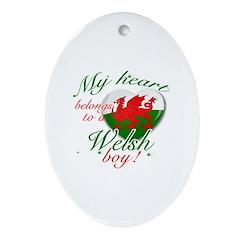 My heart belongs to a Welsh boy Ornament (Oval)