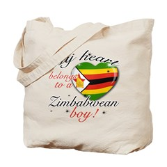 My heart belongs to a Zimbabwean boy Tote Bag
