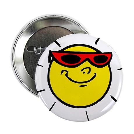 """Smiley Sun 2.25"""" Button"""
