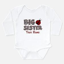 Big Sister Ladybug Long Sleeve Infant Bodysuit