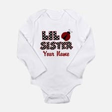 Little Sister Ladybug Long Sleeve Infant Bodysuit