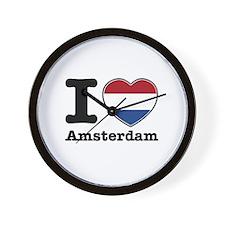 I love Amsterdam Wall Clock