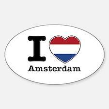 I love Amsterdam Sticker (Oval)