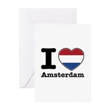 I love Amsterdam Greeting Card