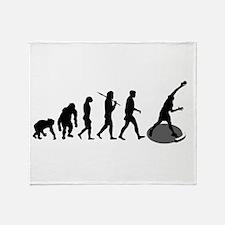 Shot Putting Evolution Throw Blanket