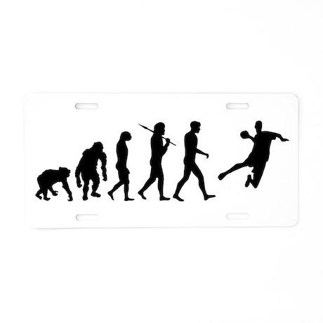 Handball Evolution Aluminum License Plate