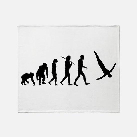 Diving Evolution Throw Blanket