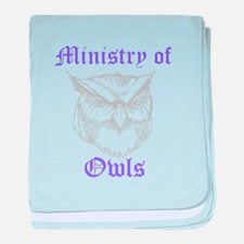 Ministry of Owls baby blanket