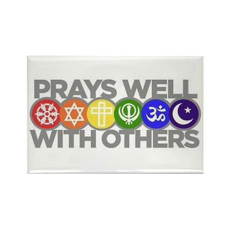 Prays Well Rectangle Magnet (100 pack)
