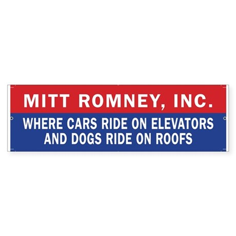Mitt Romney Inc. Bumpersticker