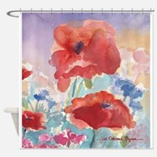 Red Poppies Shower Curtain #2