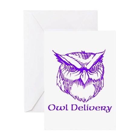 Owl Delivery Greeting Card