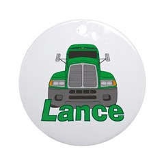 Trucker Lance Ornament (Round)